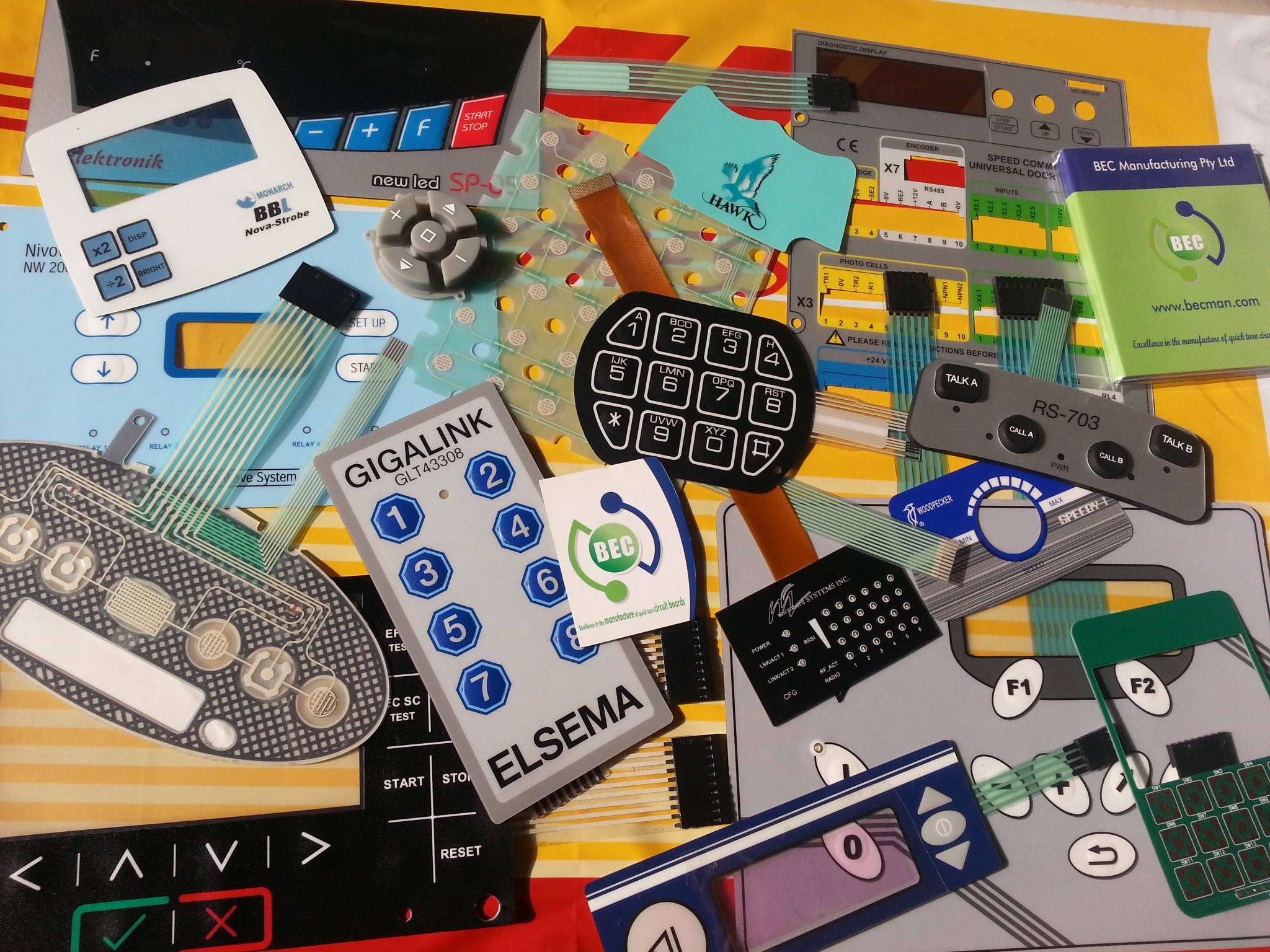 Bec Manufacturing Printed Circuit Board Company Making The Offers Prototype Quantities Of Custom Made Membrane Switches Various Builds To Help You Make Your Projects Have A Professional Look Now